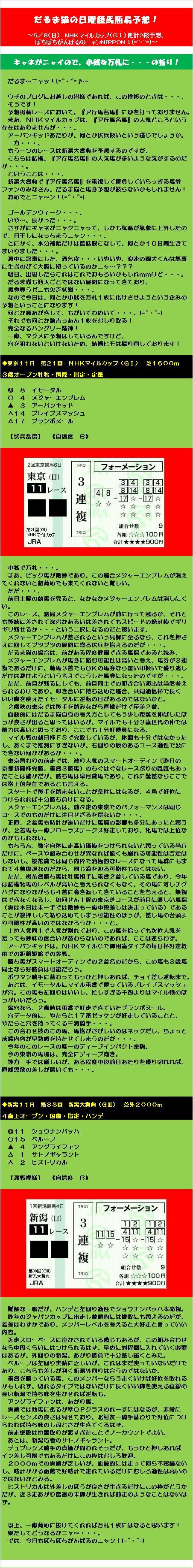 20160508・だるま猫の日曜競馬簡易予想!.jpg
