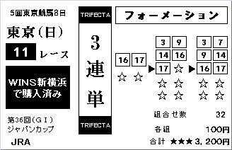 20161127・模擬馬券 東京11R ジャパンカップ☆3連単.jpg